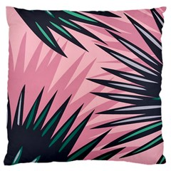 Graciela Detail Petticoat Palm Pink Green Large Flano Cushion Case (one Side) by Mariart