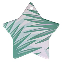 Graciela Detail Petticoat Palm Pink Green Gray Ornament (star) by Mariart