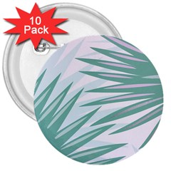 Graciela Detail Petticoat Palm Pink Green Gray 3  Buttons (10 Pack)  by Mariart