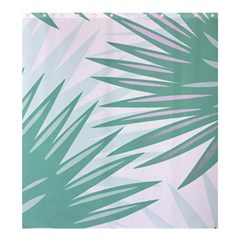 Graciela Detail Petticoat Palm Pink Green Gray Shower Curtain 66  X 72  (large)  by Mariart