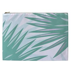 Graciela Detail Petticoat Palm Pink Green Gray Cosmetic Bag (xxl)  by Mariart