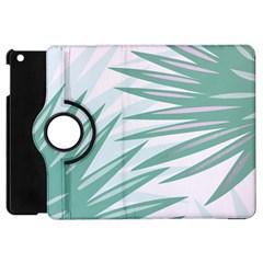 Graciela Detail Petticoat Palm Pink Green Gray Apple Ipad Mini Flip 360 Case by Mariart