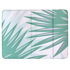 Graciela Detail Petticoat Palm Pink Green Gray Samsung Galaxy Tab 7  P1000 Flip Case by Mariart