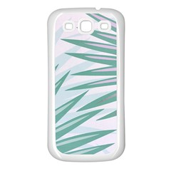 Graciela Detail Petticoat Palm Pink Green Gray Samsung Galaxy S3 Back Case (white) by Mariart
