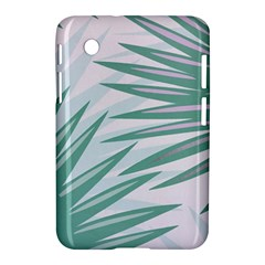 Graciela Detail Petticoat Palm Pink Green Gray Samsung Galaxy Tab 2 (7 ) P3100 Hardshell Case  by Mariart