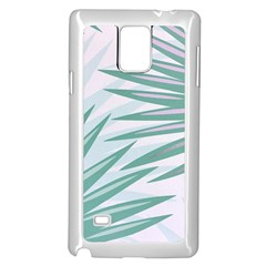 Graciela Detail Petticoat Palm Pink Green Gray Samsung Galaxy Note 4 Case (white) by Mariart