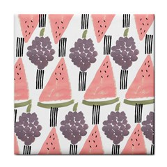 Grapes Watermelon Fruit Patterns Bouffants Broken Hearts Tile Coasters by Mariart