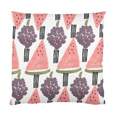 Grapes Watermelon Fruit Patterns Bouffants Broken Hearts Standard Cushion Case (two Sides) by Mariart