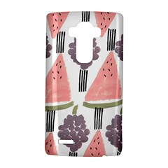 Grapes Watermelon Fruit Patterns Bouffants Broken Hearts Lg G4 Hardshell Case by Mariart