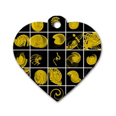 Grasshopper Rhino Spirograph Beautiful Fabulous Dog Tag Heart (one Side) by Mariart