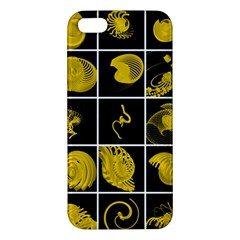 Grasshopper Rhino Spirograph Beautiful Fabulous Apple Iphone 5 Premium Hardshell Case by Mariart
