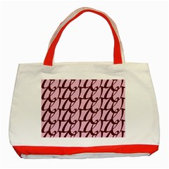 Letter Font Zapfino Appear Classic Tote Bag (red) by Mariart