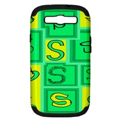 Letter Huruf S Sign Green Yellow Samsung Galaxy S Iii Hardshell Case (pc+silicone) by Mariart