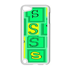 Letter Huruf S Sign Green Yellow Apple Ipod Touch 5 Case (white) by Mariart