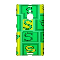 Letter Huruf S Sign Green Yellow Nokia Lumia 1520 by Mariart