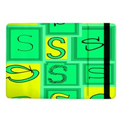 Letter Huruf S Sign Green Yellow Samsung Galaxy Tab Pro 10 1  Flip Case by Mariart