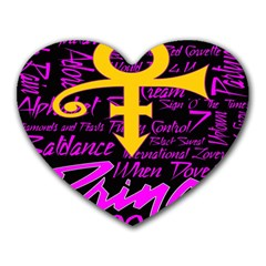 Prince Poster Heart Mousepads by Onesevenart