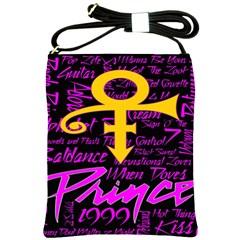 Prince Poster Shoulder Sling Bags by Onesevenart