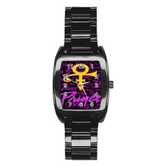 Prince Poster Stainless Steel Barrel Watch by Onesevenart