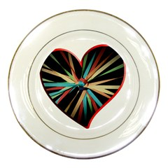 Above & Beyond Porcelain Plates by Onesevenart