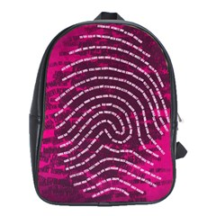 Above & Beyond Sticky Fingers School Bag (xl) by Onesevenart