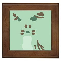 Lineless Background For Minty Wildlife Monster Framed Tiles by Mariart