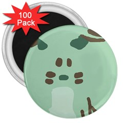 Lineless Background For Minty Wildlife Monster 3  Magnets (100 Pack) by Mariart
