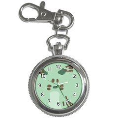 Lineless Background For Minty Wildlife Monster Key Chain Watches by Mariart