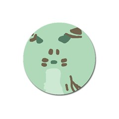 Lineless Background For Minty Wildlife Monster Magnet 3  (round) by Mariart