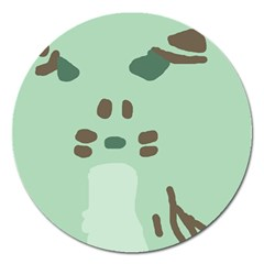 Lineless Background For Minty Wildlife Monster Magnet 5  (round) by Mariart