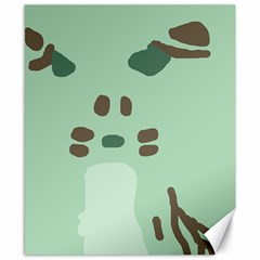 Lineless Background For Minty Wildlife Monster Canvas 8  X 10  by Mariart