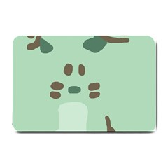 Lineless Background For Minty Wildlife Monster Small Doormat  by Mariart