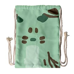Lineless Background For Minty Wildlife Monster Drawstring Bag (large) by Mariart