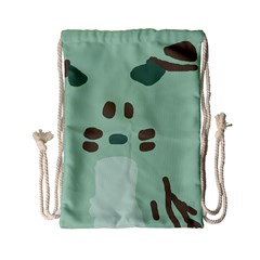 Lineless Background For Minty Wildlife Monster Drawstring Bag (small) by Mariart