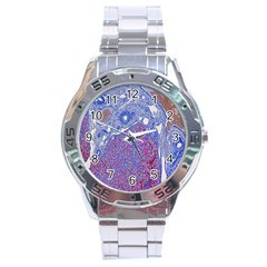 Histology Inc Histo Logistics Incorporated Human Liver Rhodanine Stain Copper Stainless Steel Analogue Watch by Mariart