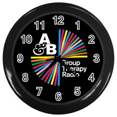Above & Beyond  Group Therapy Radio Wall Clocks (black) by Onesevenart