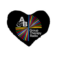 Above & Beyond  Group Therapy Radio Standard 16  Premium Heart Shape Cushions by Onesevenart