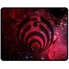 Bassnectar Galaxy Nebula Fleece Blanket (medium)  by Onesevenart
