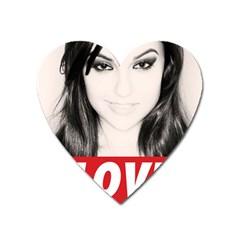 Sasha Grey Love Heart Magnet by Onesevenart
