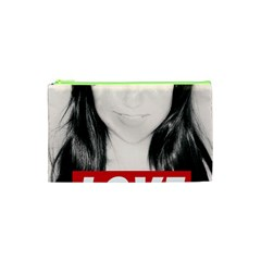 Sasha Grey Love Cosmetic Bag (xs) by Onesevenart