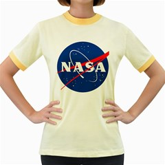 Nasa Logo Women s Fitted Ringer T Shirts by Onesevenart
