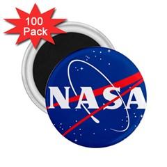 Nasa Logo 2 25  Magnets (100 Pack)  by Onesevenart