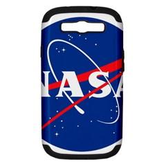 Nasa Logo Samsung Galaxy S Iii Hardshell Case (pc+silicone) by Onesevenart