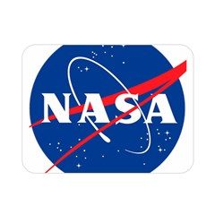 Nasa Logo Double Sided Flano Blanket (mini)  by Onesevenart