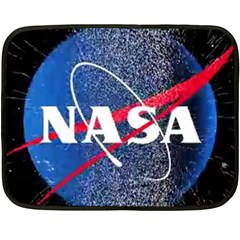 Nasa Logo Fleece Blanket (mini) by Onesevenart