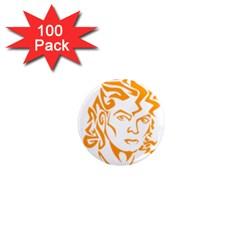 Michael Jackson 1  Mini Magnets (100 Pack)  by Onesevenart