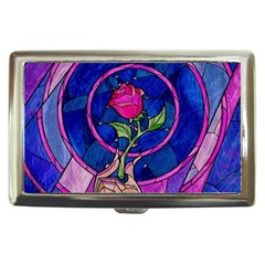 Enchanted Rose Stained Glass Cigarette Money Cases by Onesevenart