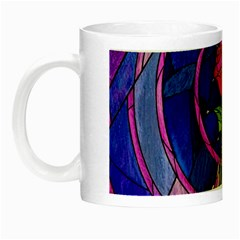 Enchanted Rose Stained Glass Night Luminous Mugs by Onesevenart