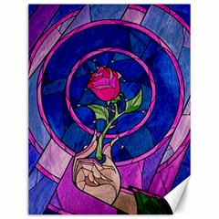 Enchanted Rose Stained Glass Canvas 12  X 16   by Onesevenart