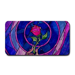 Enchanted Rose Stained Glass Medium Bar Mats by Onesevenart